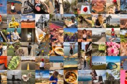 collage of my travel photos